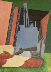 Diego Rivera 'Urban Landscape, Detail', 1916, Mexico, Reproduction 200gsm A3 Vintage Classic Art Poster