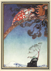 Kay Nielsen 'Lifted Away as Far as They Could', from 'East of The Sun and West of The Moon', Denmark, 1914, Reproduction Vintage 200gsm A3 Classic Poster