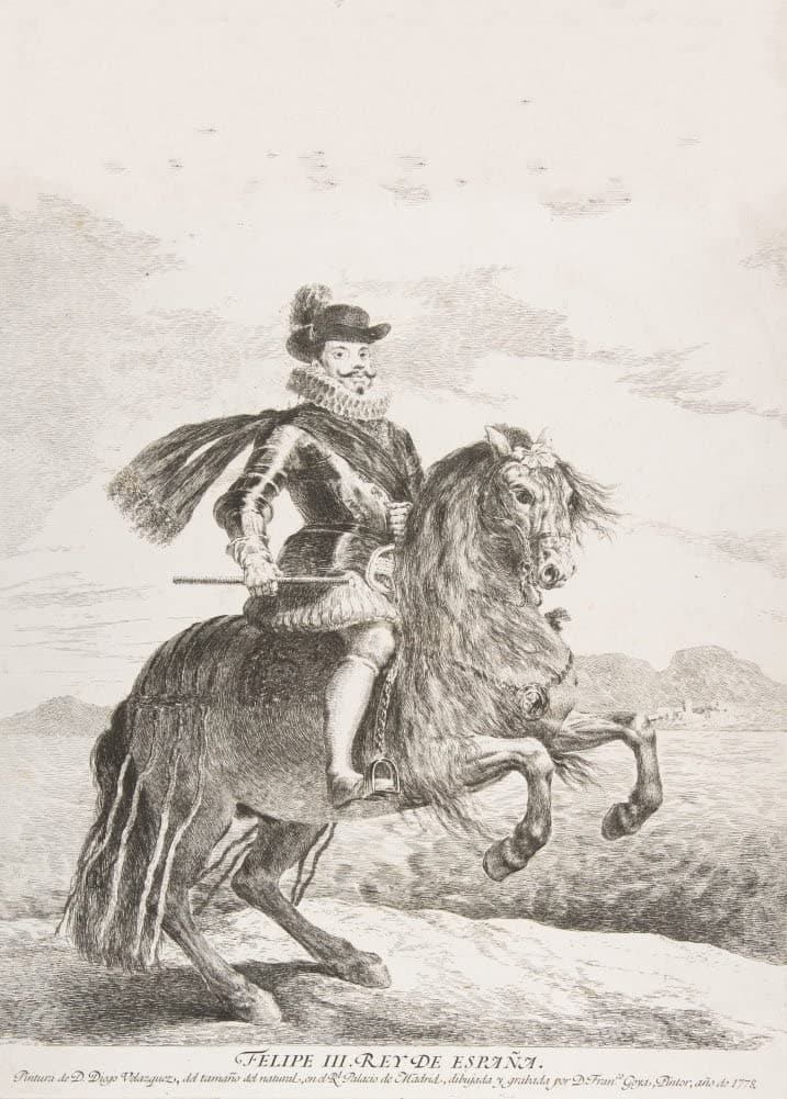 Goya 'Philip III, King of Spain on Horseback', Spain, 1778, Reproduction 200gsm A3 Vintage Classic Art Poster