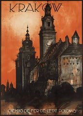 Vintage Travel Poland 'Krakow with Polish State Railways', Circa. 1930's, Reproduction 200gsm A3 Vintage Art Deco Travel Poster
