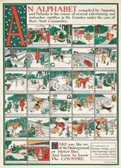 Vintage London Underground 'Alphabet of London', 1923, Reproduction 200gsm A3 Classic Art Deco English Travel Poster