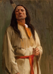 Eanger Irving Couse 'Pride of The Camp', U.S.A, 1800's, Reproduction 200gsm A3 Vintage Classic Native American Art Poster