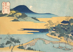 Hokusai 'Evening Moon at Izumizaki', Japan, 18-19th Century, Reproduction 200gsm A3 Ukiyo-e Classic Art Poster