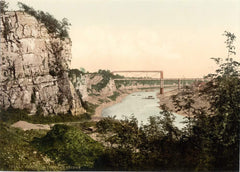 Vintage Travel Wales 'Tubular Bridge, Chepstow', Circa 1890-1910, Reproduction 200gsm A3 Vintage Photography Travel Poster