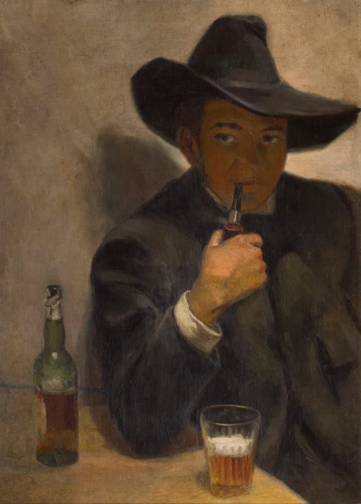 Diego Rivera 'Self-Portrait with Broad-Brimmed Hat, Detail', 1907, Mexico, Reproduction 200gsm A3 Vintage Classic Art Poster