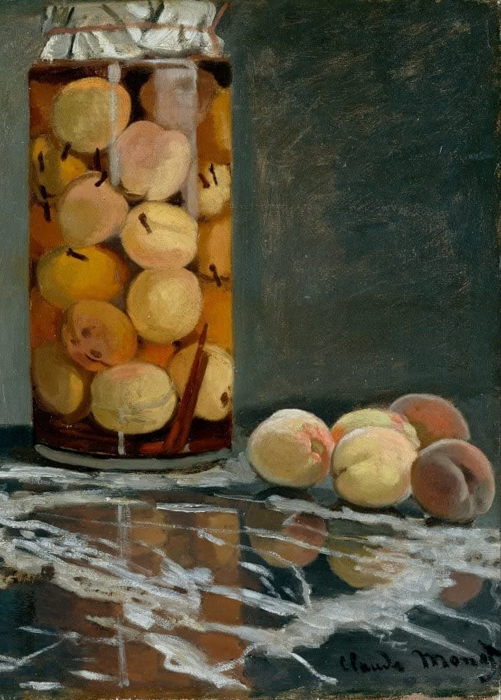 Claude Monet 'Jar of Peaches', France, 1866, Impressionism, Reproduction 200gsm A3 Vintage Classic Art Poster