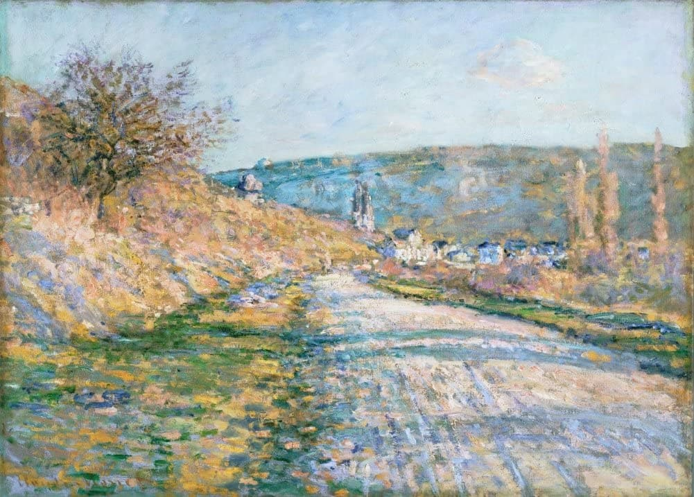Claude Monet 'The Road to Vetheuil', France, 1879, Impressionism, Reproduction 200gsm A3 Vintage Classic Art Poster