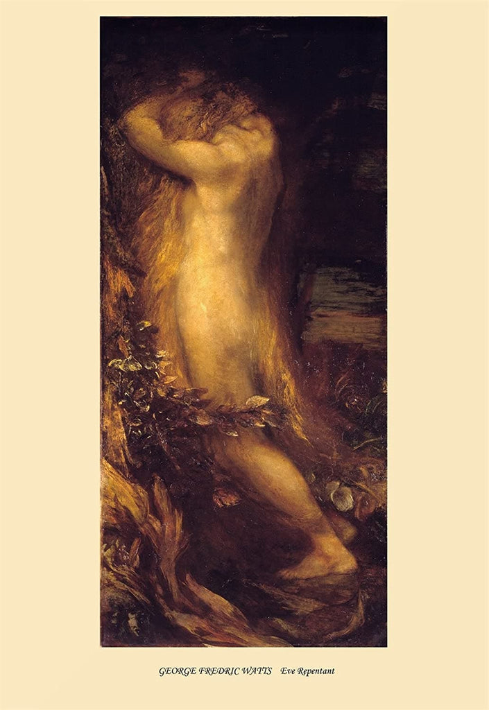 George Frederic Watts 'Eve Repentant', England, 1875, Reproduction 200gsm A3 Vintage Classic Art Poster