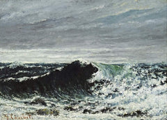 Gustave Courbet 'The Wave', France, 1869, Reproduction 200gsm A3 Vintage Classic Art Poster