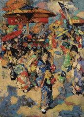 Edward Atkinson Hornel 'Carnival Day, Japan', 1894, Scotland, Reproduction 200gsm A3 Vintage Classic Art Poster