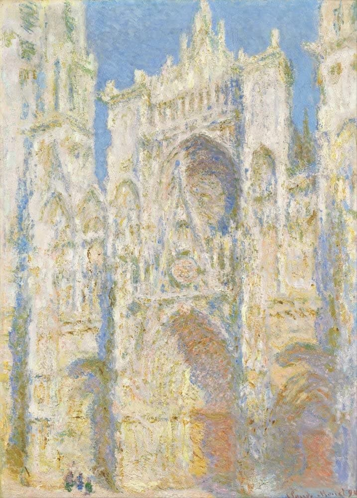 Claude Monet 'Rouen Cathedral, West Facade, Sunlight', France, 1894, Impressionism, Reproduction 200gsm A3 Vintage Classic Art Poster