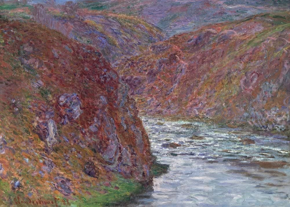 Claude Monet 'Valley of The Creuse. Grey Day, Detail', France, 1889, Impressionism, Reproduction 200gsm A3 Vintage Classic Art Poster