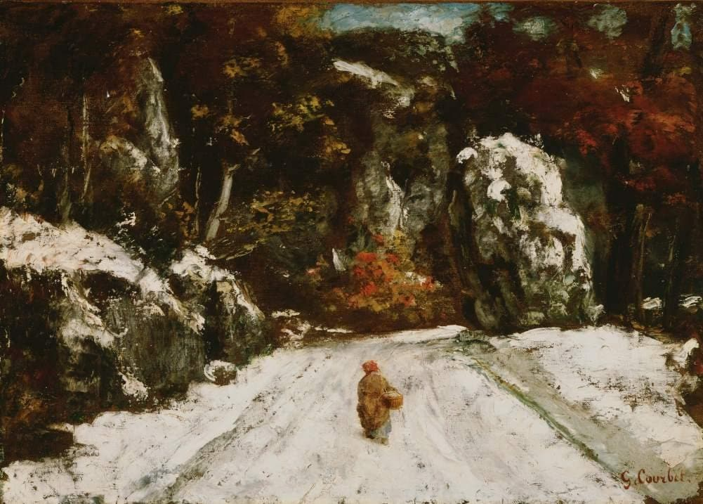 Gustave Courbet 'Winter in The Jura', France, 1875, Reproduction 200gsm A3 Vintage Classic Art Poster
