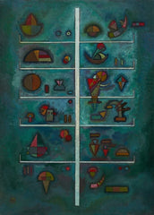 Kandinsky 'Levels', Russia, 1929, Reproduction 200gsm A3 Vintage Classic Art Poster