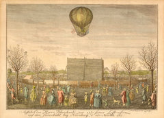 Vintage Travel Germany 'Ballooning', 1787, Reproduction 200gsm A3 Vintage Travel Poster