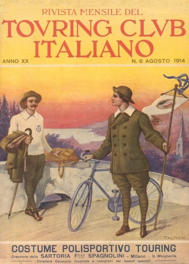 Vintage Cycling 'Cycling Touring Costumes', Italy, 1914, Reproduction 200gsm A3 Vintage Art Nouveau Cycling Poster