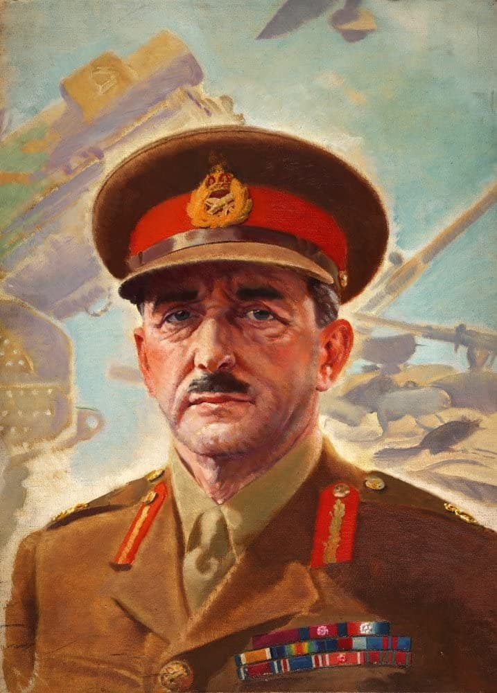 Vintage British WW11 Propaganda 'Portrait of Field Marshall Lord Alanbrooke', England, 1939-45, Reproduction 200gsm A3 Vintage British Propaganda Poster