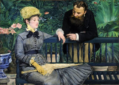 Edouard Manet 'Inside The Conservatory', 1879, France, Impressionism, Reproduction 200gsm A3 Vintage Classic Art Poster