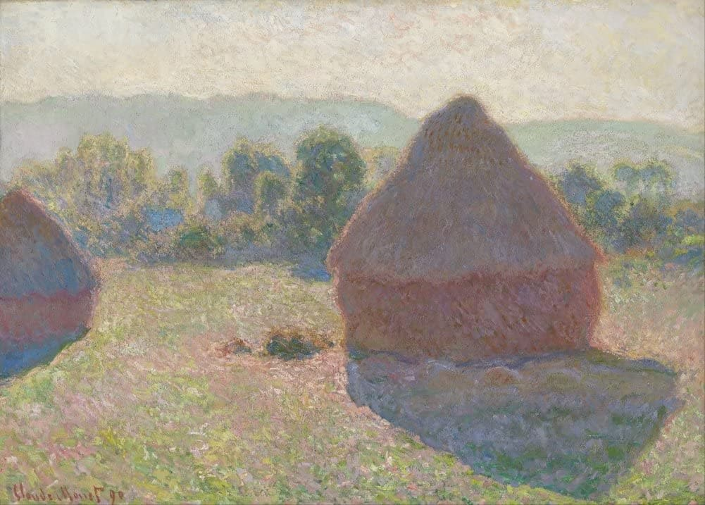 Claude Monet 'Haystacks, Midday', France, 1890', Impressionism, Reproduction 200gsm A3 Vintage Classic Art Poster