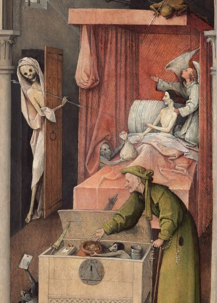 Hieronymus Bosch 'Death and The Miser, Detail', Netherlands, 1485-90, Reproduction 200gsm A3 Vintage Classic Art Poster