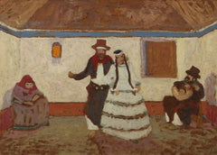 Pedro Figari 'Dancing at The Ranch', Circa. 1900 to 1938, Uruguay, Reproduction 200gsm A3 Vintage Classic Art Poster