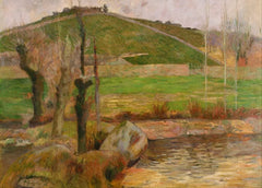 Paul Gauguin 'Landscape Near Pont-Aven, Detail', France, 1888, Reproduction 200gsm A3 Vintage Classic Art Poster