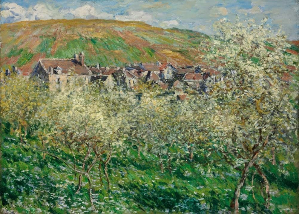 Claude Monet 'Flowering Plum Trees', France, 1879, Impressionism, Reproduction 200gsm A3 Vintage Classic Art Poster