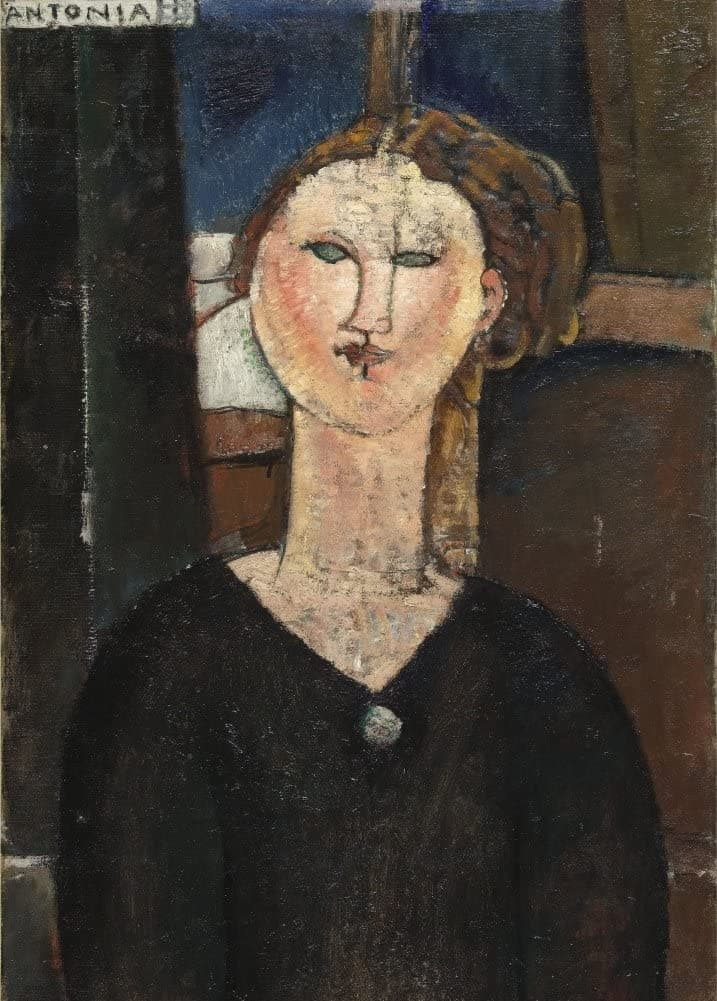 Amedeo Modigliani 'Antonia, Detail', Italy, 1915, Reproduction 200gsm A3 Vintage Classic Art Poster