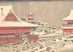 Hiroshige 'Year End Fair at Kinryuzan Temple', Japan, 19th Century, Reproduction 200gsm A3 Vintage Classic Ukiyo-e Art Poster