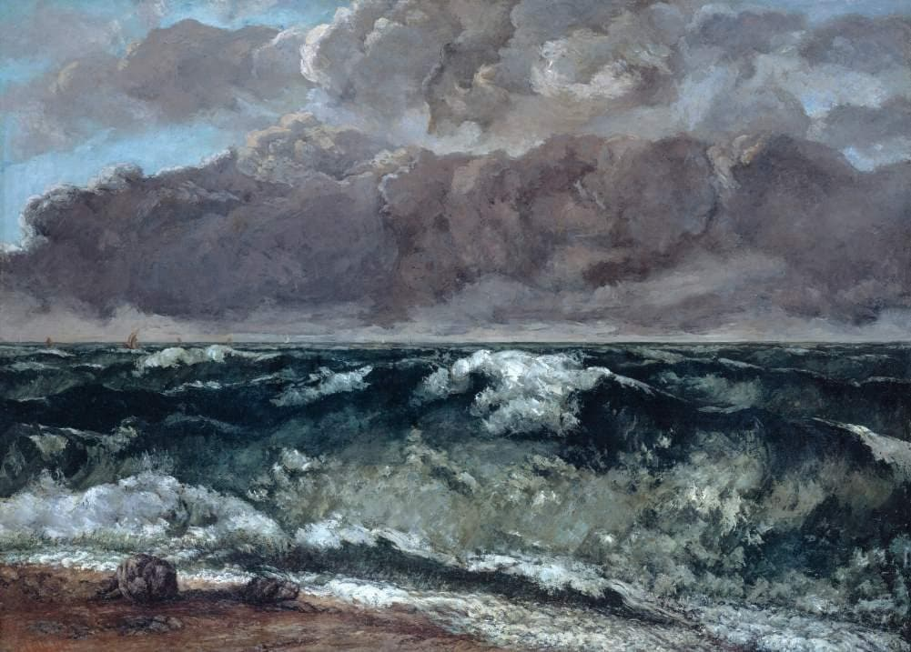 Gustave Courbet 'The Wave', France, 1867-69, Reproduction 200gsm A3 Vintage Classic Art Poster
