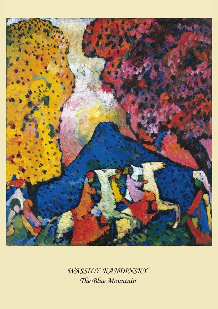 Kandinsky 'The Blue Mountain', Russia, 1909, Reproduction Vintage 200gsm A3 Classic Poster