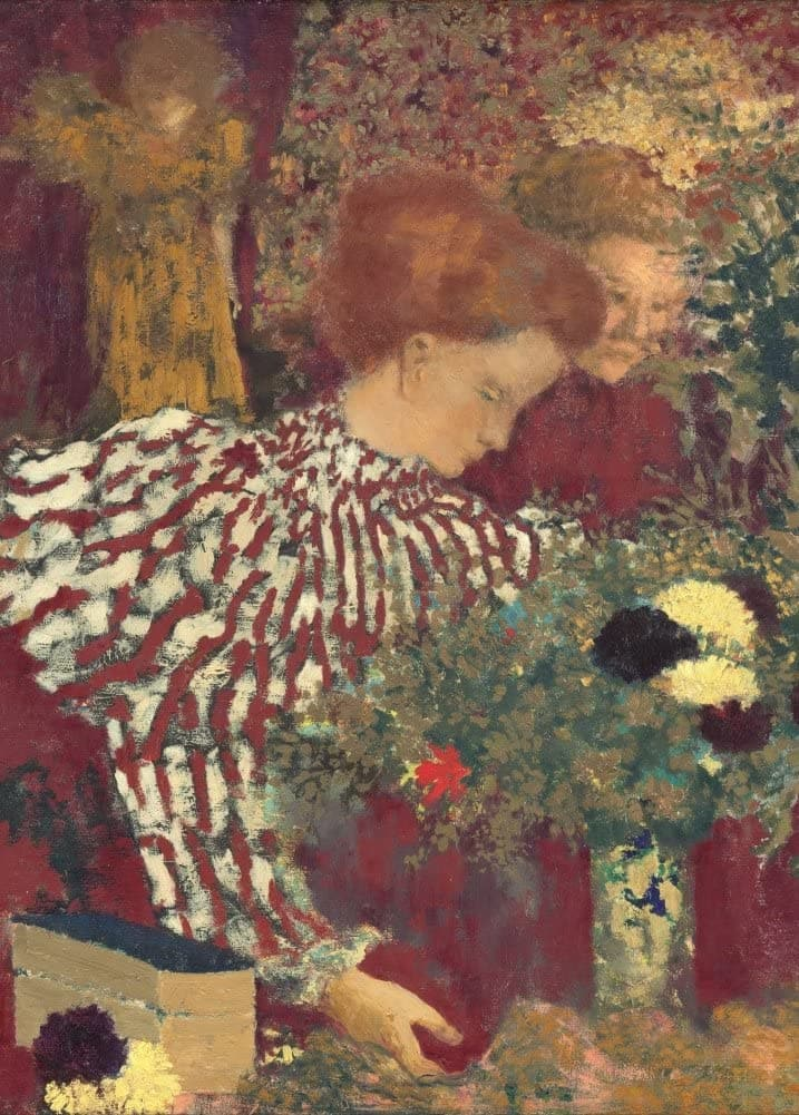 Edouard Vuillard 'Woman in a Striped Dress, Detail', France, 1895, Impressionism, Reproduction 200gsm A3 Vintage Classic Art Poster