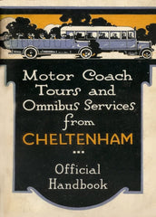 Vintage Travel England 'Cheltenham with Motor Coach Tours', 1925, Reproduction 200gsm A3 Vintage Art Deco Travel Poster