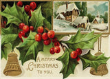 A Vintage Christmas 'A Merry Christmas to You', Reproduction 200gsm A3 Classic Vintage Poster
