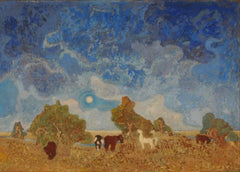 Pedro Figari 'Pampa', Circa. 1900 to 1938,Uruguay, Reproduction 200gsm A3 Vintage Classic Art Poster