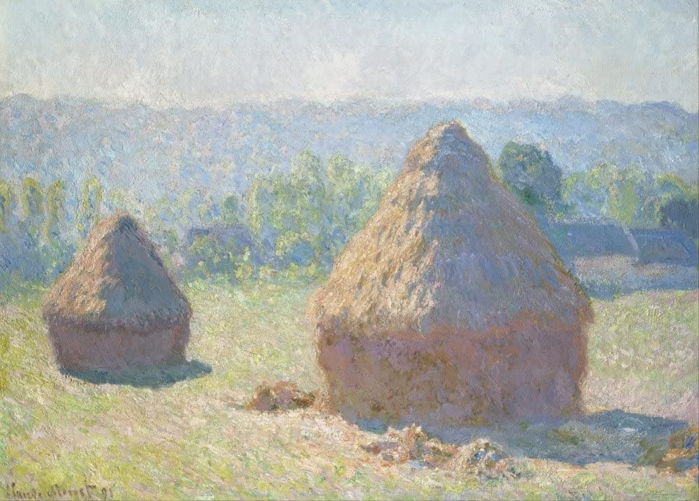 Claude Monet 'Haystacks, end of Summer', France, 1891, Impressionism, Reproduction 200gsm A3 Vintage Classic Art Poster