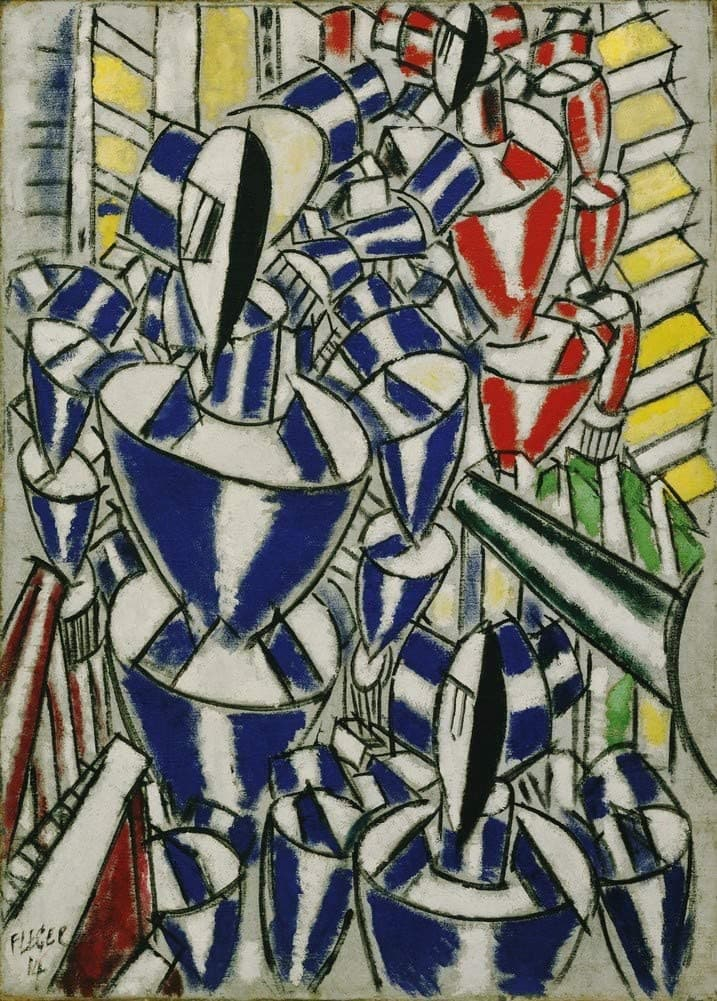 Fernand Leger 'Exit The Ballets Russes, France, 1914, Reproduction 200gsm A3 Vintage Classic Art Poster