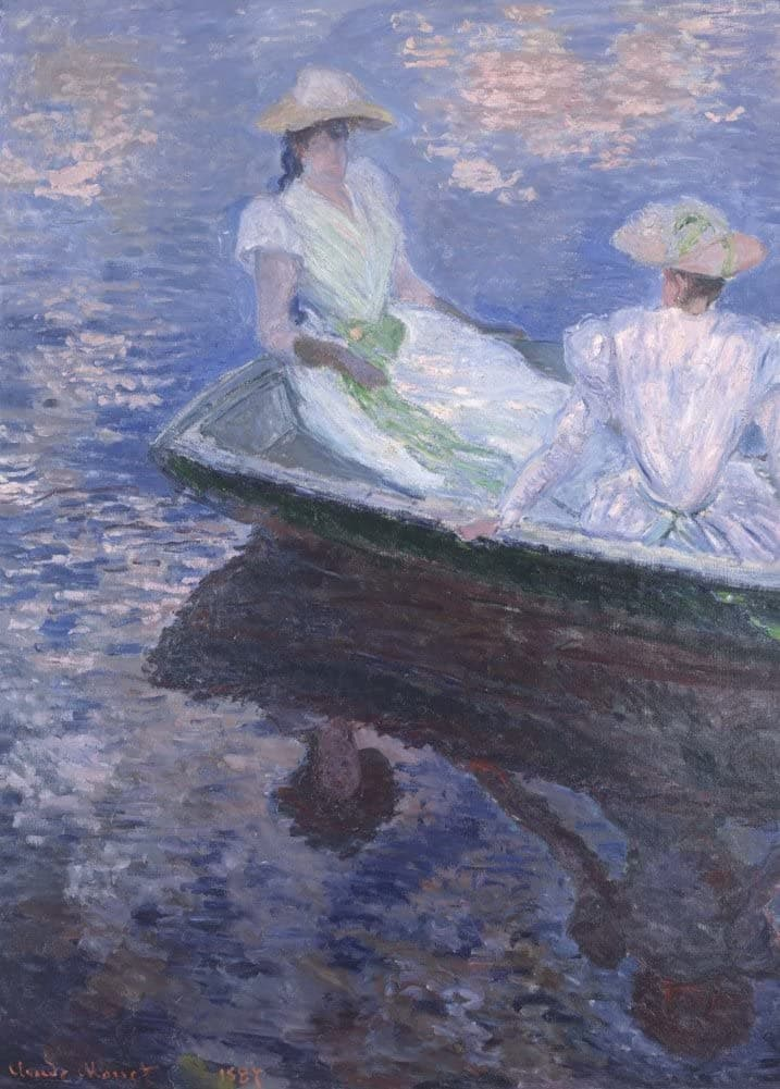 Claude Monet 'On The Boat, Detail', France, 1887, Impressionism, Reproduction 200gsm A3 Vintage Classic Art Poster