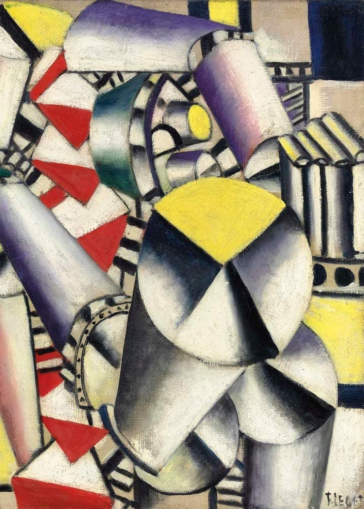 Fernand Leger 'Les cylindres Colores, Detail', France, 1910, Reproduction 200gsm A3 Vintage Classic Art Poster