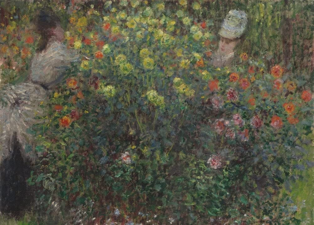 Claude Monet 'Ladies in Flowers, Detail', France, 1875, Impressionism, Reproduction 200gsm A3 Vintage Classic Art Poster