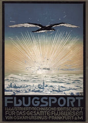Vintage Travel Germany 'Air Sports Guide', 1913, Reproduction 200gsm A3 Vintage Travel Poster