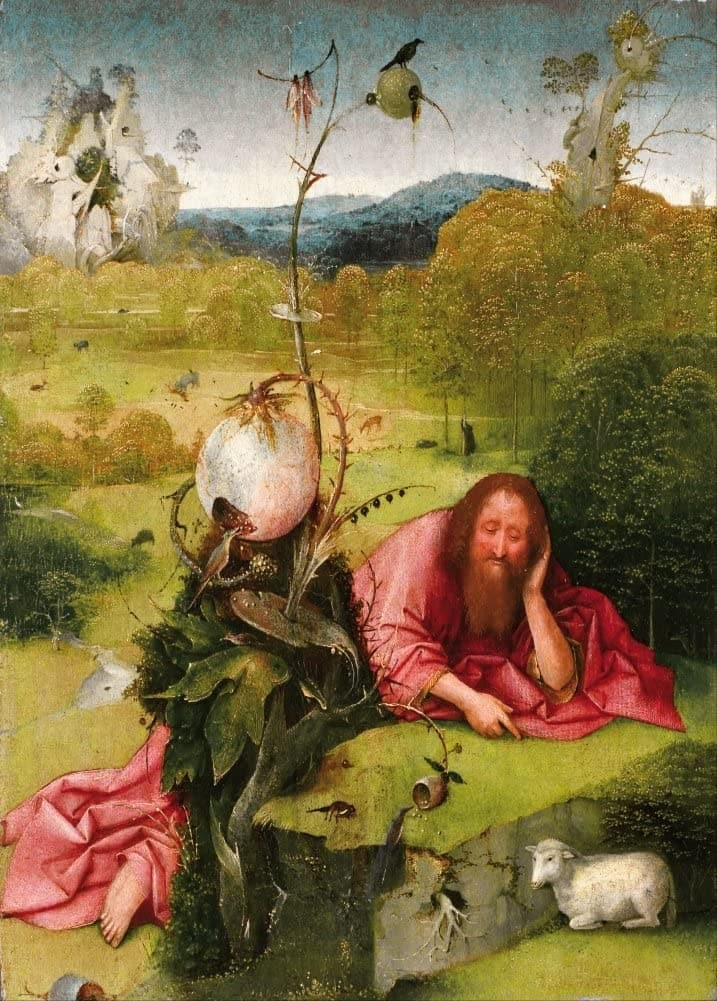 Hieronymus Bosch 'Saint John The Baptist in The Desert', Netherlands, 15th Century, Reproduction 200gsm A3 Vintage Classic Art Poster