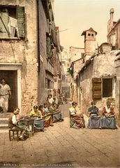 Vintage Travel Italy 'Calle dell Angelo a San Martin, Venice', Circa. 1890-1910, Reproduction 200gsm A3 Vintage Travel Photography Poster