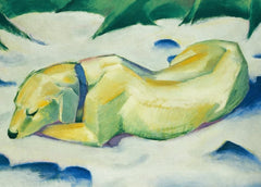 Franz Marc 'Dog Lying in The Snow, Detail', German Expressionism, 1911, Reproduction 200gsm A3 Vintage Classic Art Poster