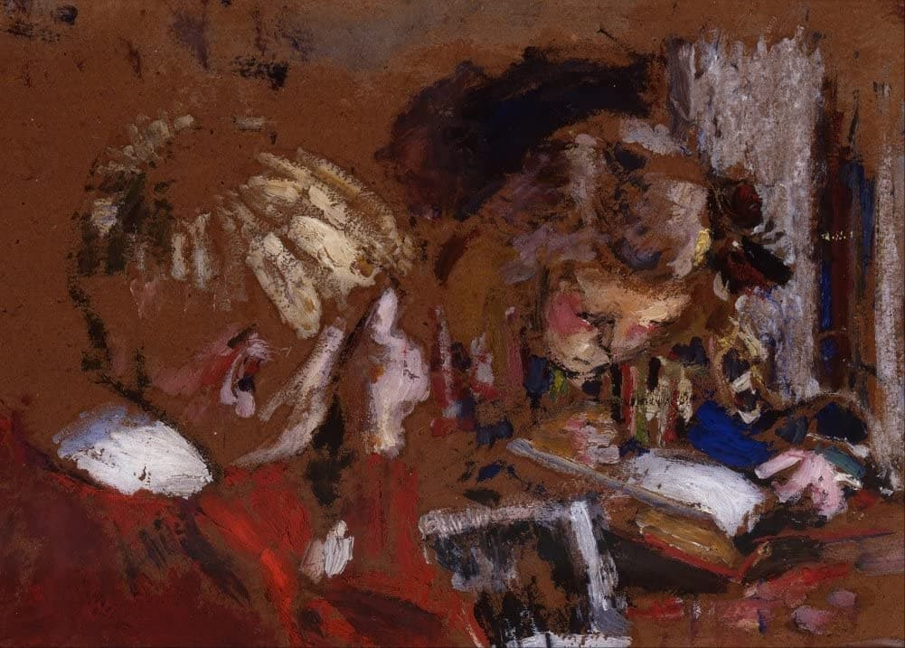 Edouard Vuillard 'Children Reading, Detail', France, 1909, Impressionism, Reproduction 200gsm A3 Vintage Classic Art Poster