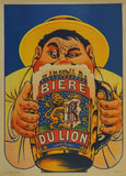 Vintage Beers, Wines and Spirits 'Bierre du Lion', France, 1909, Reproduction 200gsm A3 Vintage Poster