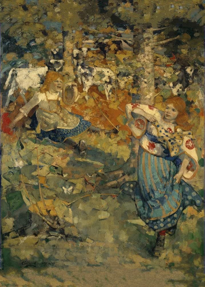 Edward Atkinson Hornel 'Summer', 1891, Scotland, Reproduction 200gsm A3 Vintage Classic Art Poster