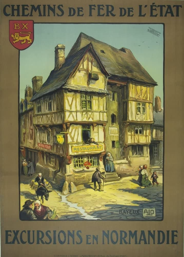 Vintage Travel France 'Normandy Excursions', Reproduction 200gsm A3 Vintage Travel Poster