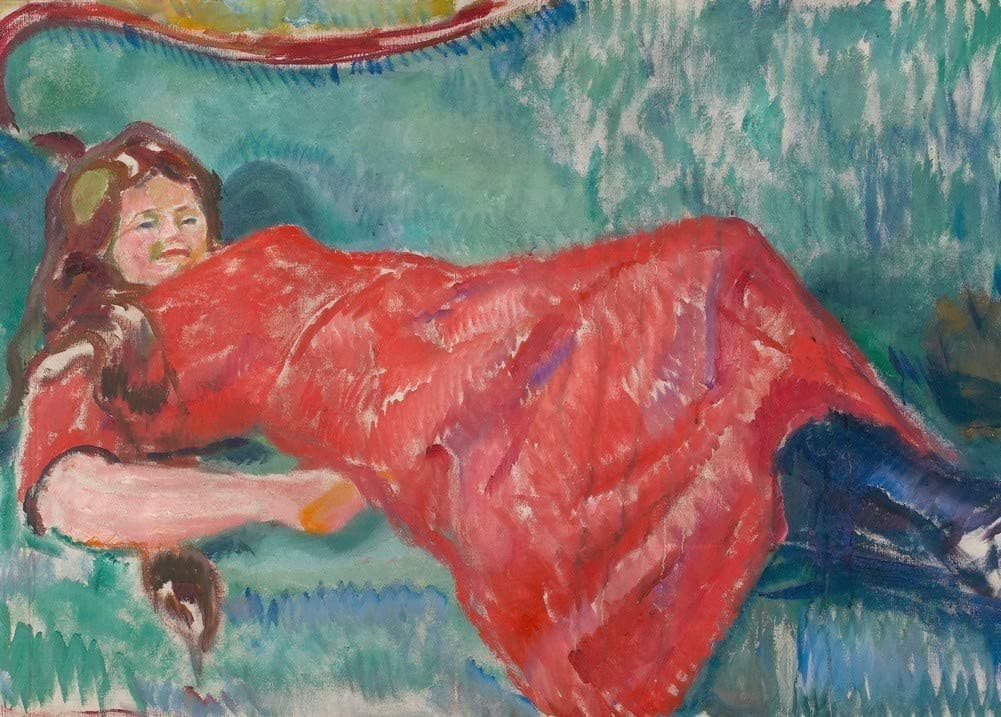 Edvard Munch 'On The Sofa, Detail', Norway, 1913, Reproduction 200gsm A3 Vintage Classic Art Poster
