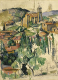 Paul Cezanne 'The Village of Gardanne', France, 1885-86, Reproduction 200gsm A3 Vintage Classic Art Poster
